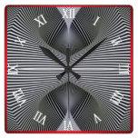 Optical Illusion #08 Square Wall Clock