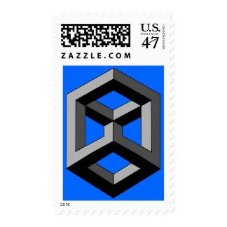 Optical Illusion - 3D Block Postage