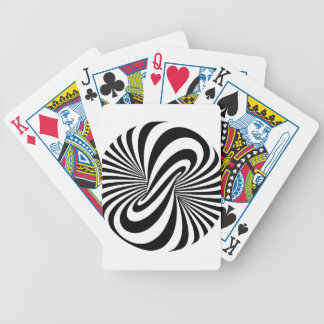 Optical Illusion 3D Spiral Bicycle Playing Cards