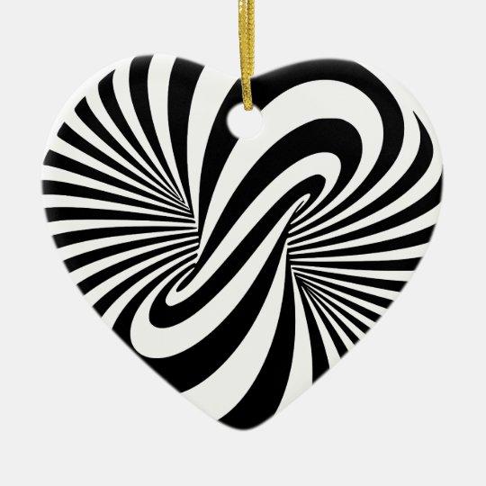 Optical Illusion 3D Spiral Ceramic Ornament