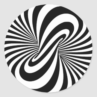 Optical Illusion 3D Spiral Classic Round Sticker