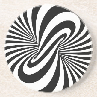 Optical Illusion 3D Spiral Drink Coaster