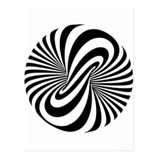 Optical Illusion 3D Spiral Postcard