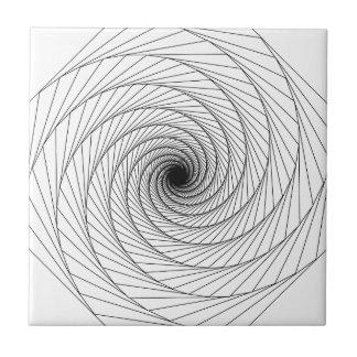 Optical Illusion #4 Ceramic Tile
