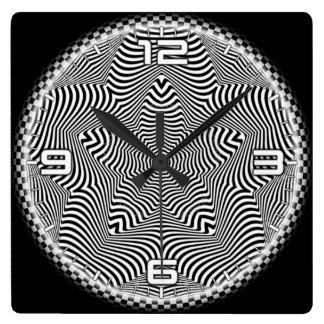 Optical illusion #560 square wall clock