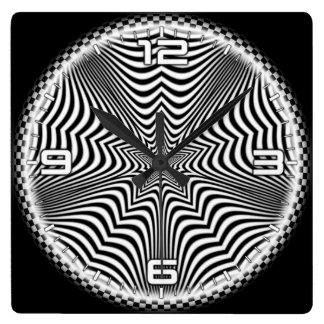 Optical illusion #561 square wall clock