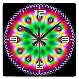 Optical illusion #562 square wall clock