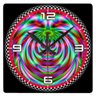 Optical illusion #564 square wall clock