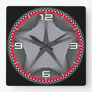 Optical illusion #565 square wall clock