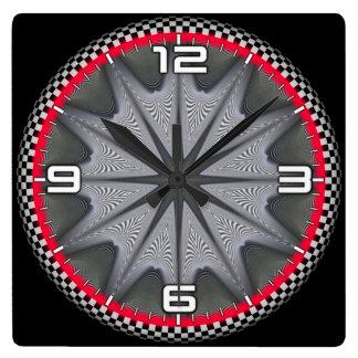 Optical illusion #566 square wall clock