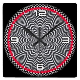 Optical illusion #570 square wall clock