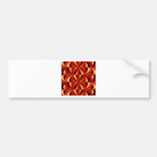 Optical illusion abstract background bumper sticker