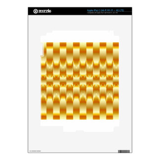 Optical illusion abstract background decals for iPad 3