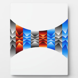 Optical illusion abstract background plaque