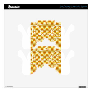 Optical illusion abstract background skin for PS3 controller