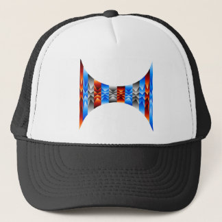 Optical illusion abstract background trucker hat