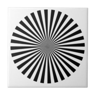 Optical Illusion Allows One To See Ones Brainwaves Ceramic Tile