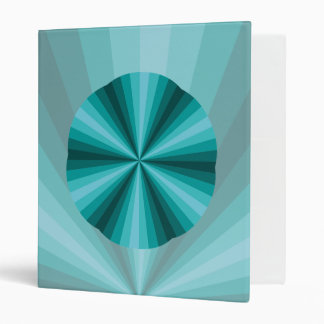 Optical Illusion Aqua Binder