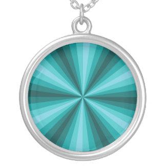 Optical Illusion Aqua Necklace