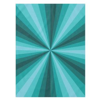 Optical Illusion Aqua Tablecloth