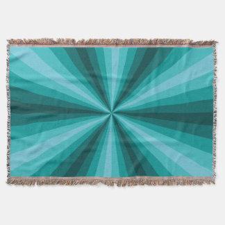 Optical Illusion Aqua Throw Blanket
