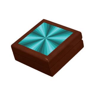 Optical Illusion Aqua Tile Box