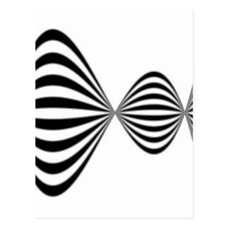 Optical illusion background postcard
