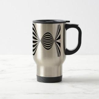 Optical illusion background travel mug