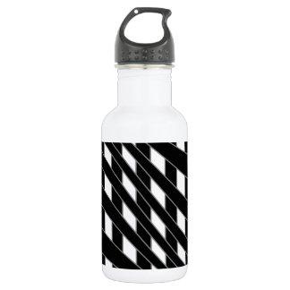Optical illusion background water bottle