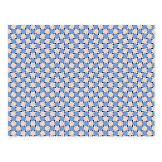 optical illusion - bendy pattern postcard
