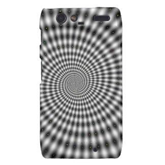 Optical Illusion Black and White Swirl Motorola Droid RAZR Cover