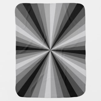 Optical Illusion Black Baby Blanket