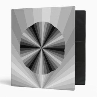 Optical Illusion Black Binder