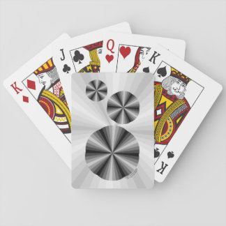 Optical Illusion Black Classic Playing Cards