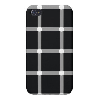 Optical Illusion Black Dots  iPhone 4/4S Cover