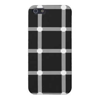Optical Illusion Black Dots  iPhone 5 Cover