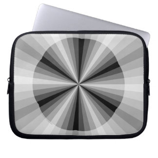 Optical Illusion Black Laptop Case