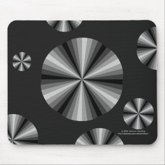 Optical Illusion Black Mousepad