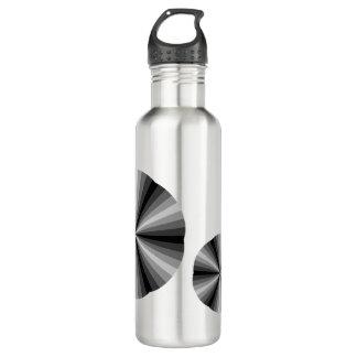 Optical Illusion Black Water Bottle