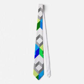 Optical illusion blocks repetitive design tie