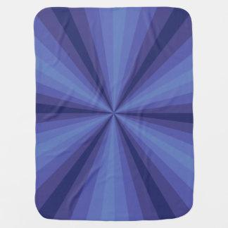Optical Illusion Blue Baby Blanket