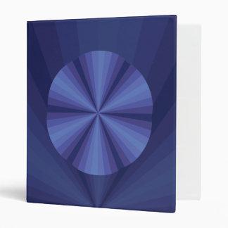 Optical Illusion Blue Binder