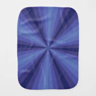Optical Illusion Blue Burp Cloth