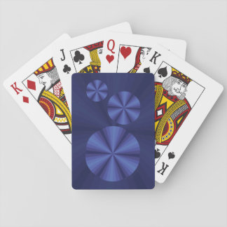 Optical Illusion Blue Classic Playing Cards