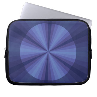 Optical Illusion Blue Laptop Case
