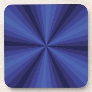 Optical Illusion Blue Square Coaster