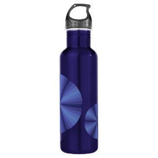 Optical Illusion Blue Water Bottle