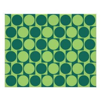 Optical Illusion Cafe Wall Effect Circles Green Poster