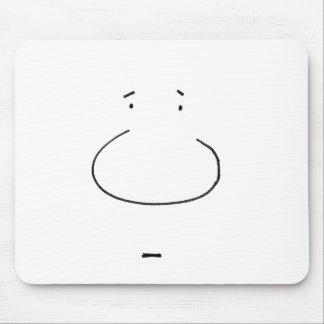 Optical Illusion Cartoon Face Mouse Pad