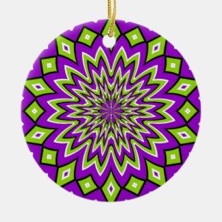 Optical Illusion Ceramic Ornament